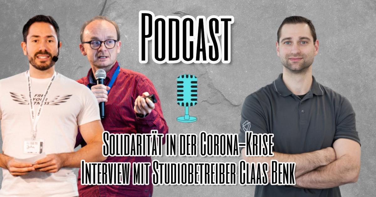 Solidarität in der Corona-Krise Interview mit Studiobetreiber Claas Benk